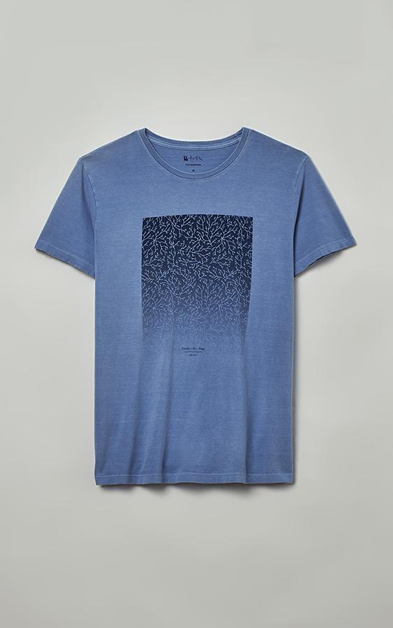Camiseta Foxton Corais de Fogo - Azul Claro