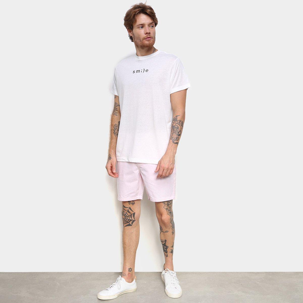Camiseta Foxton Smile - Branco