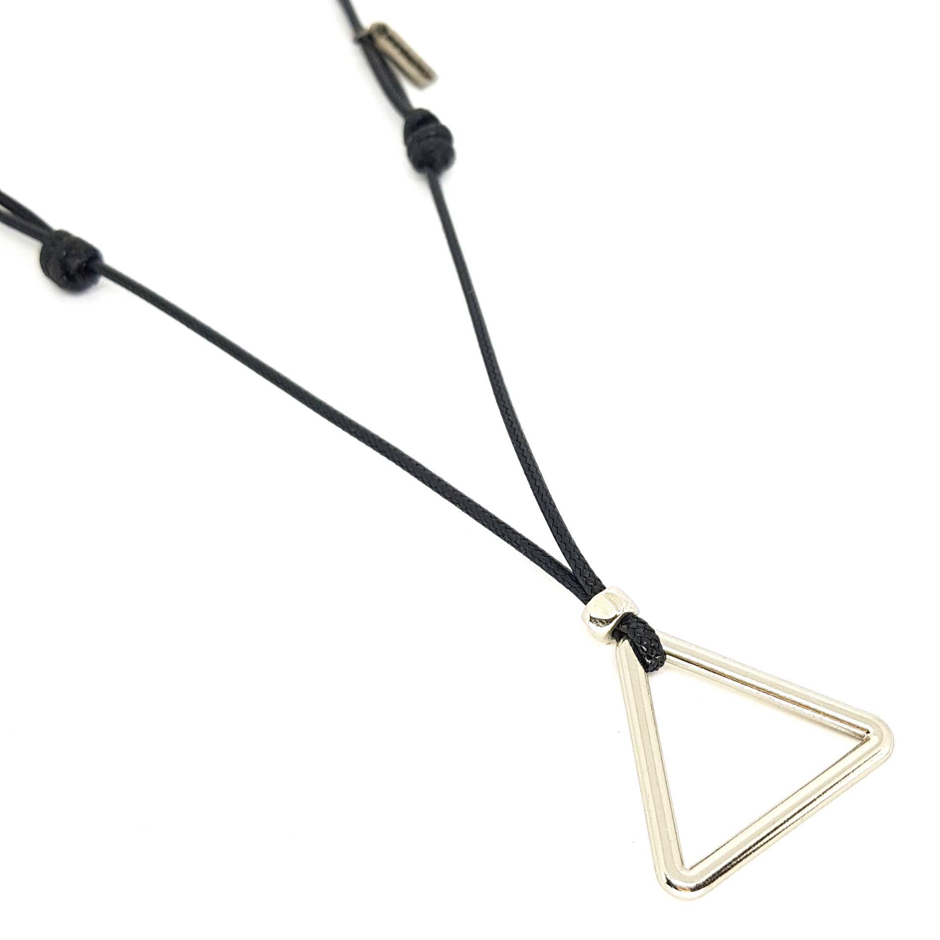 Colar Ajustável Triângulo Prata