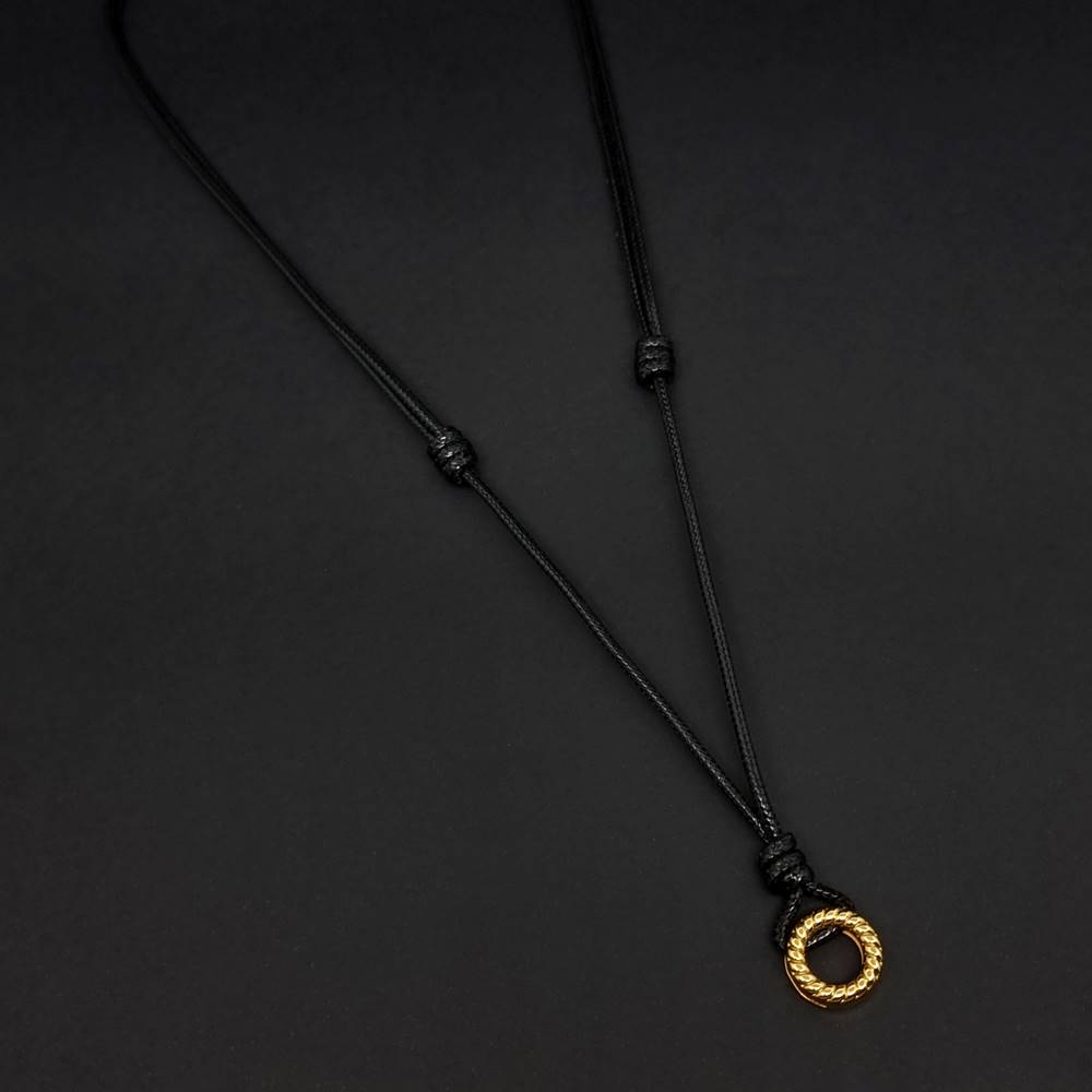 Colar Cerado Ajustável Ring Gold