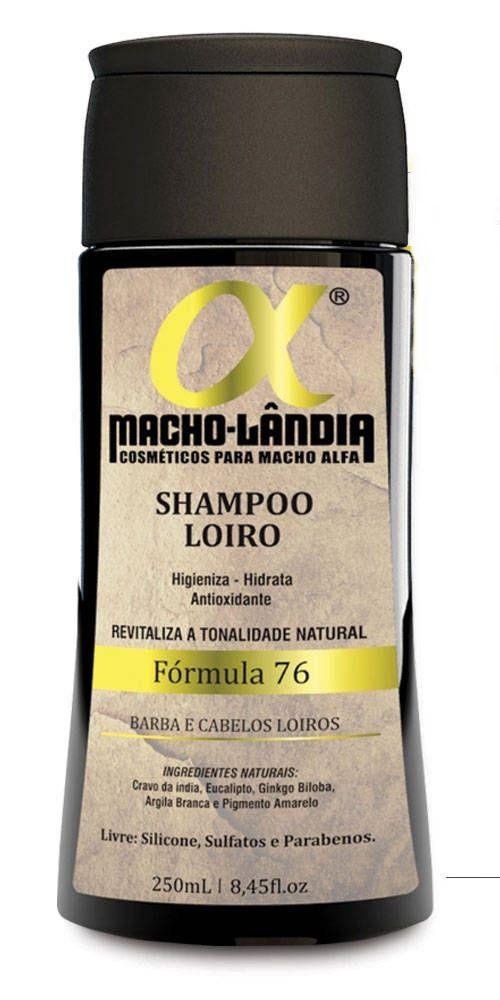 Shampoo Macho Lândia Formula 76 - Barba e Cabelos Loiros