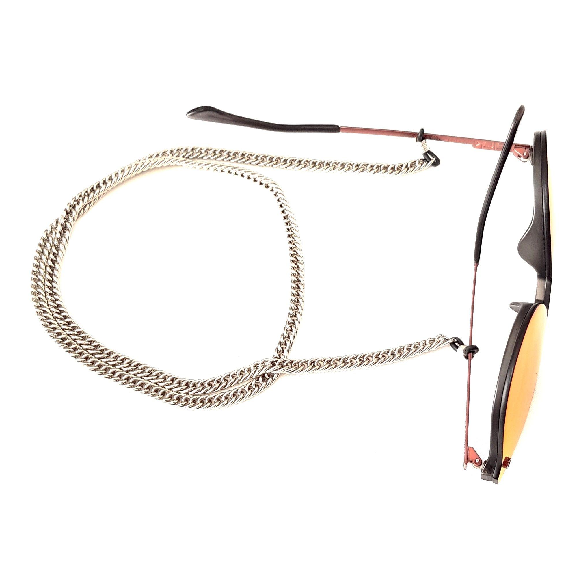 Cordão Empório Top Para Óculos Corrente Grossa Cor Prata