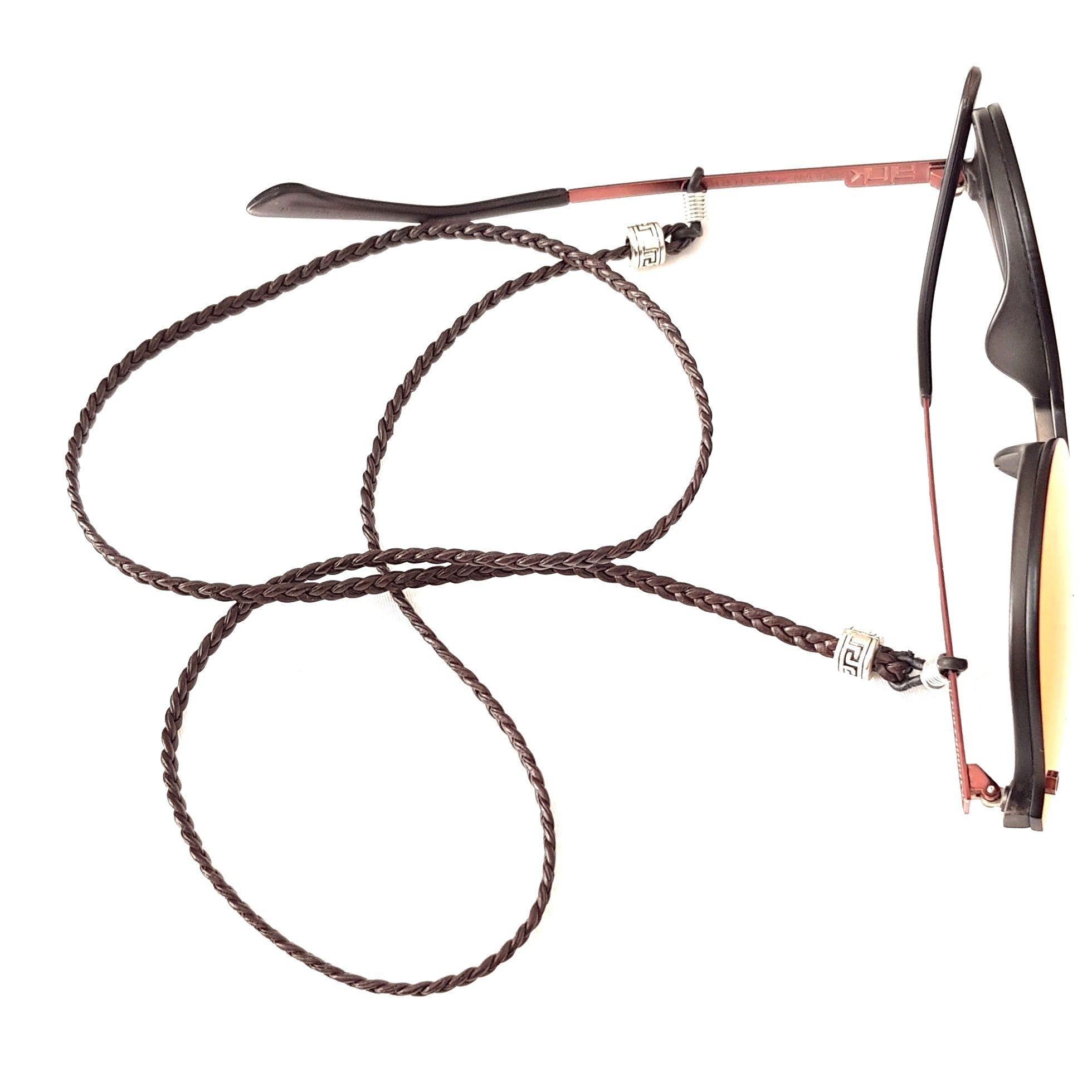 Cordão Empório Top Para Óculos Couro Marrom