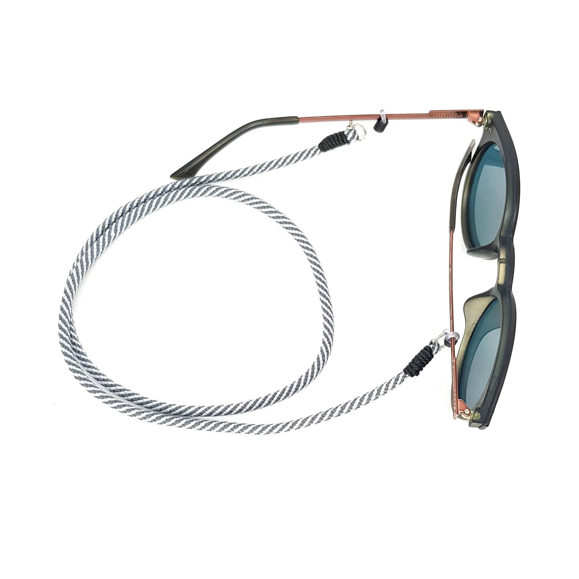 Cordão para Óculos Cinza Listrado