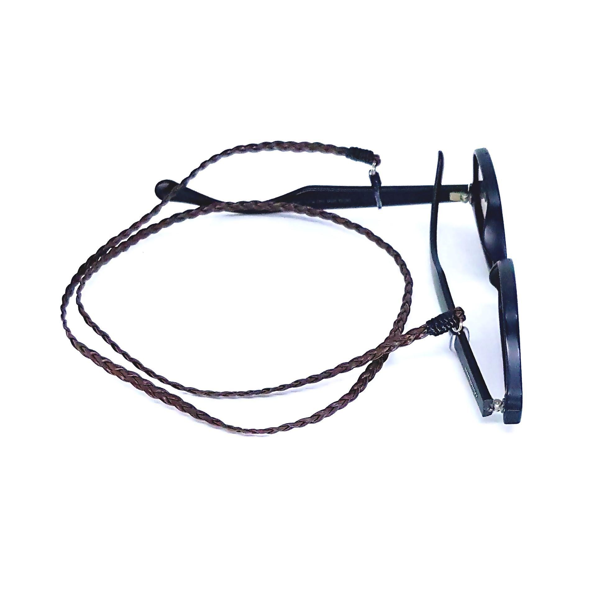 Cordão para Óculos Couro Marrom
