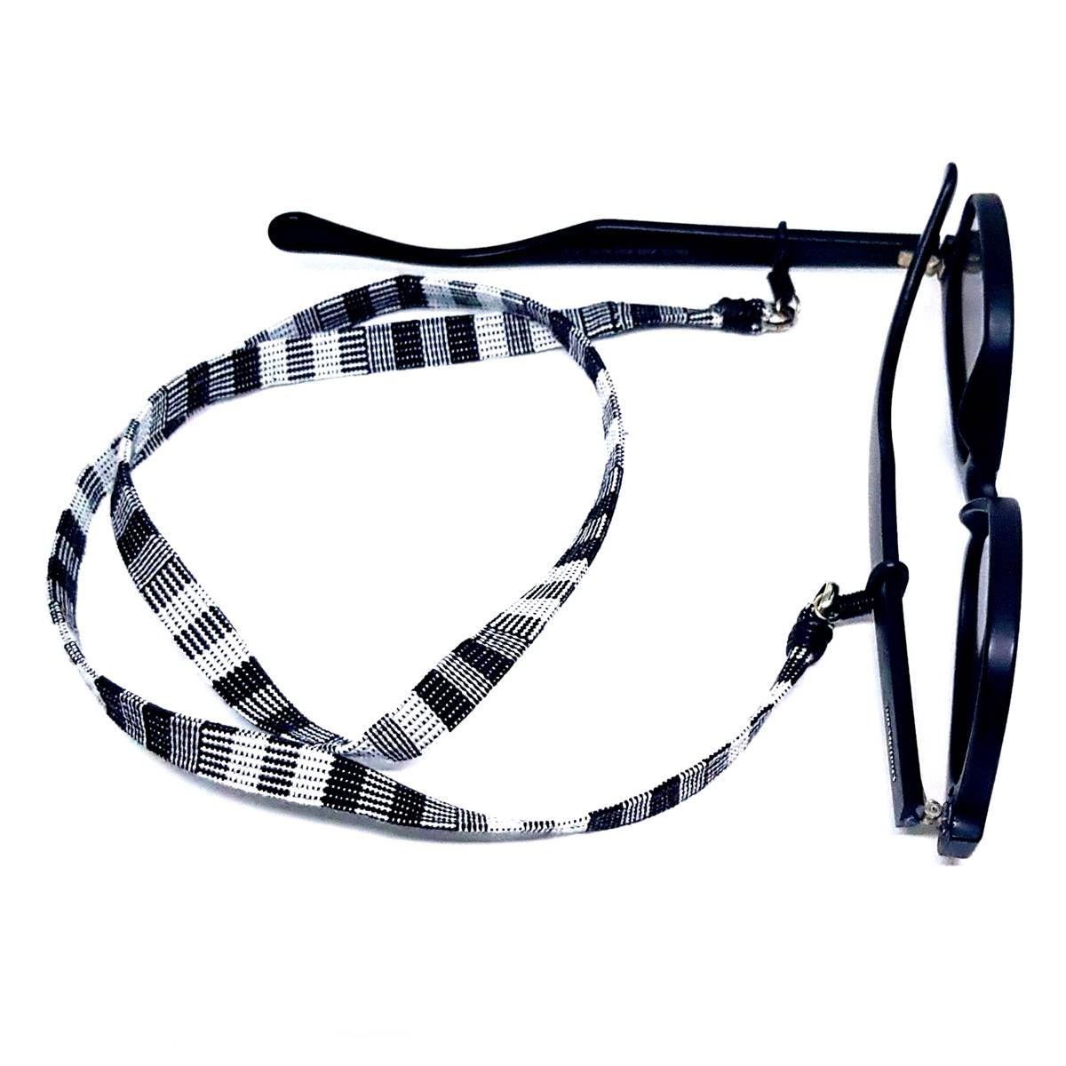 Cordão para Óculos Étnico Preto e Branco