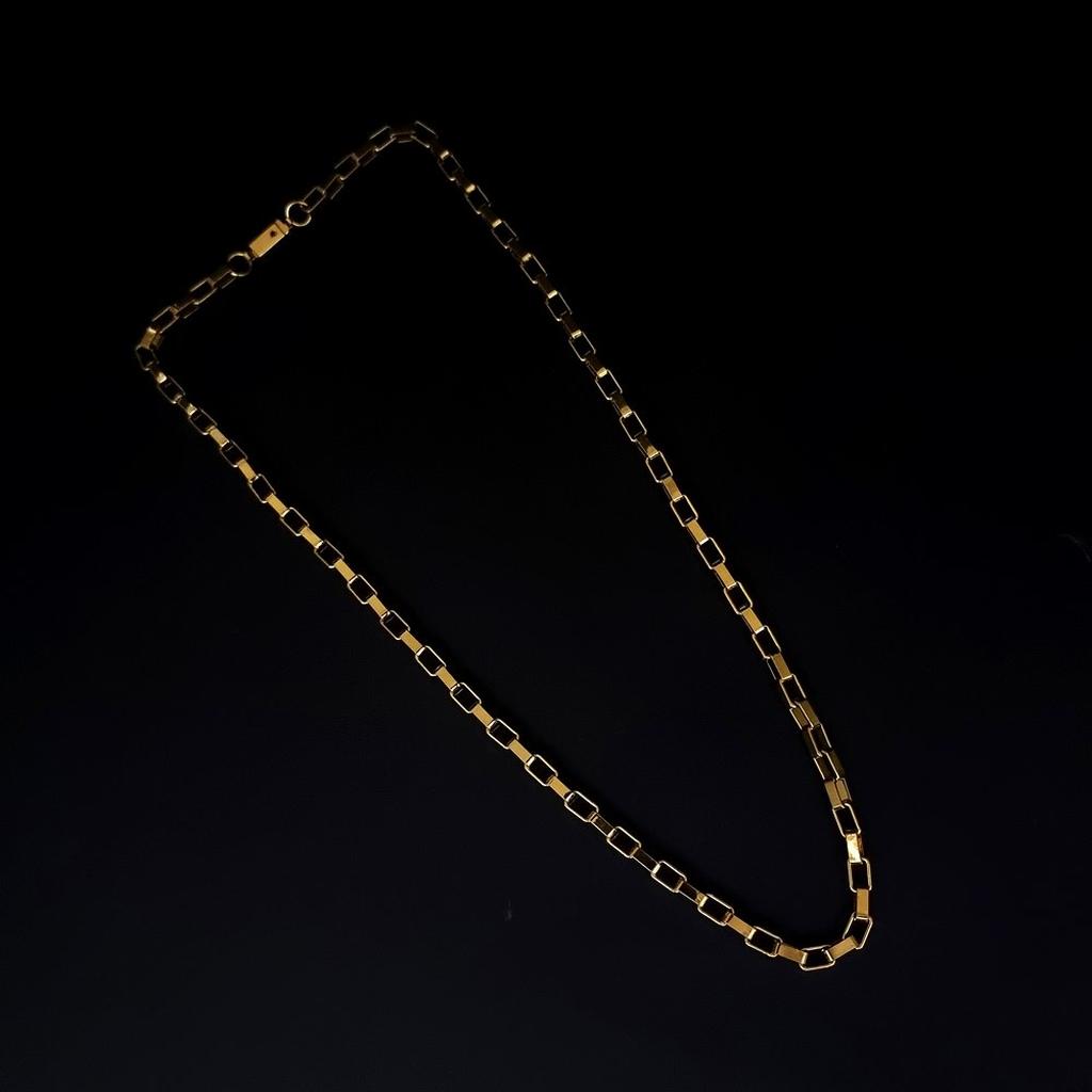 Corrente Aço Inox Box - Gold
