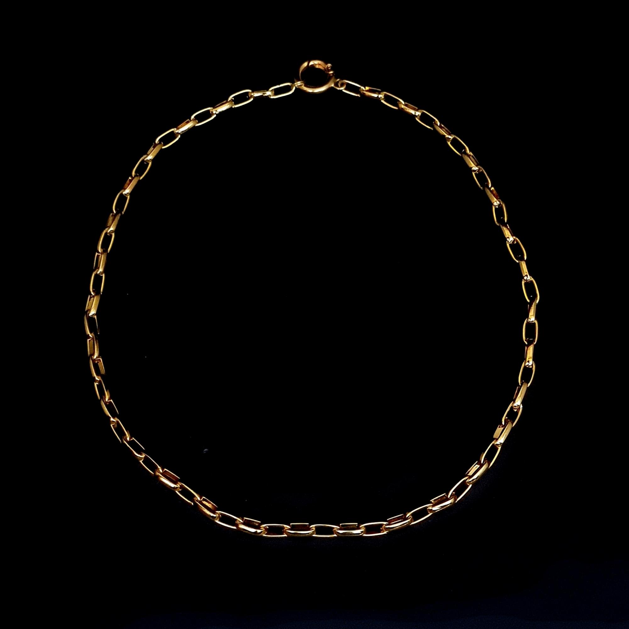 Corrente Aço Inox Elíptica Gold