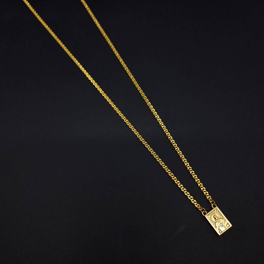 Corrente Aço Inox escapulário Precius Gold