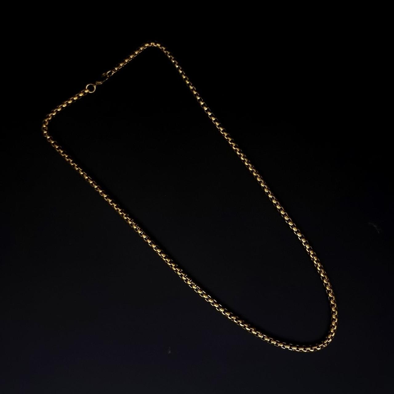 Corrente Aço Inox Link Gold