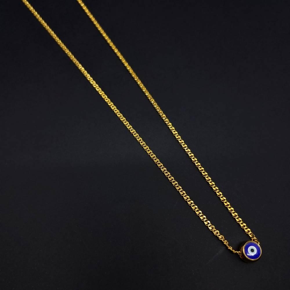 Escapulário Olho Grego Gold