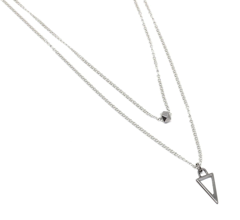 Corrente de Aço Inox Dupla Triângulo
