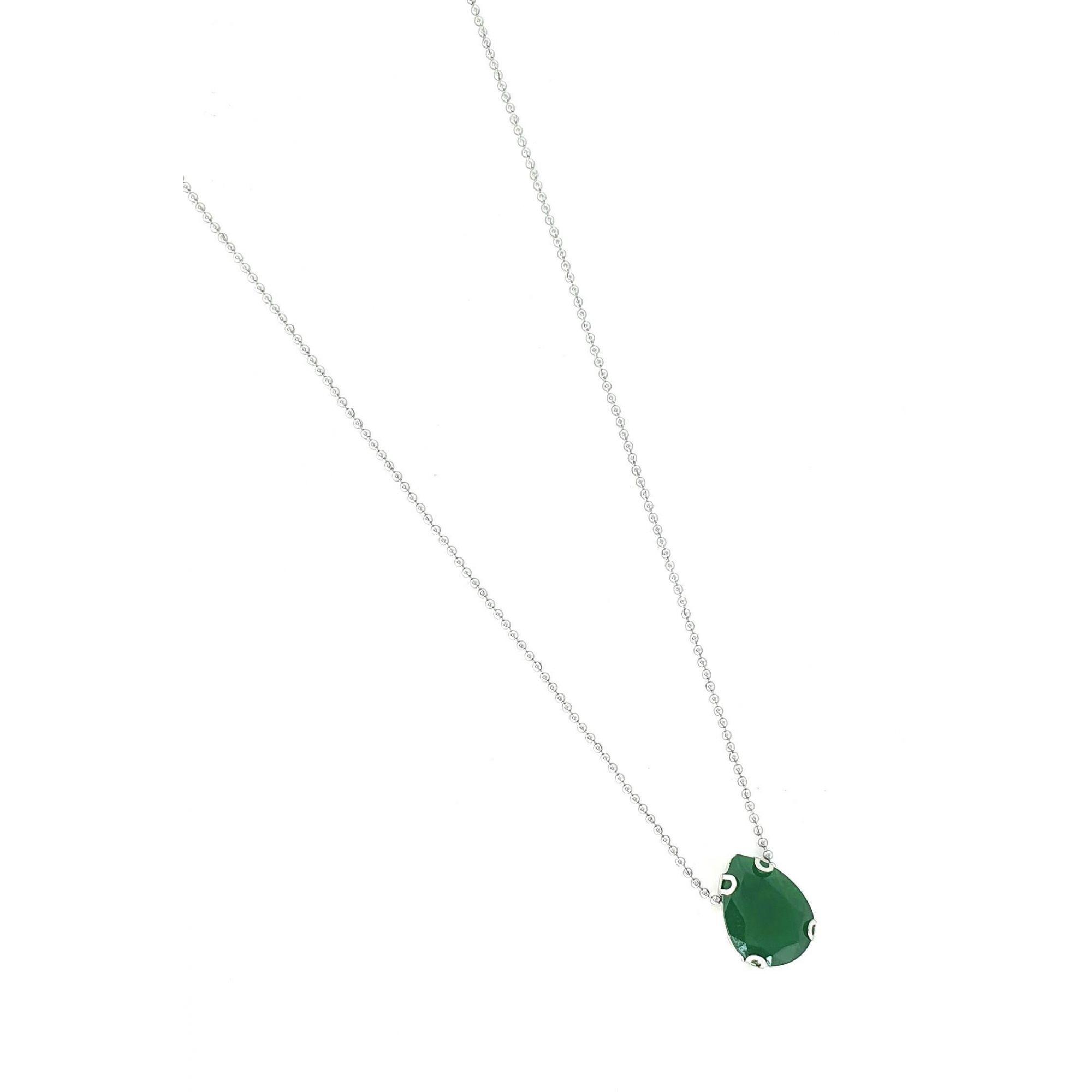 Corrente Empório Top Aço Inox Drop Green