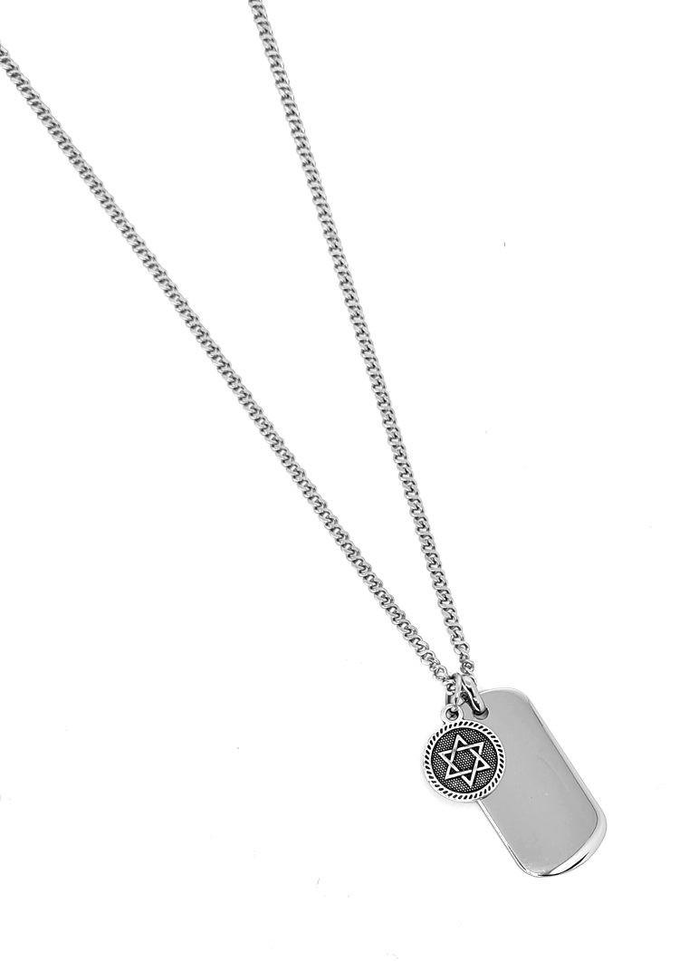 Corrente Emporio Top Aço Inox Medalha Estrela de Davi