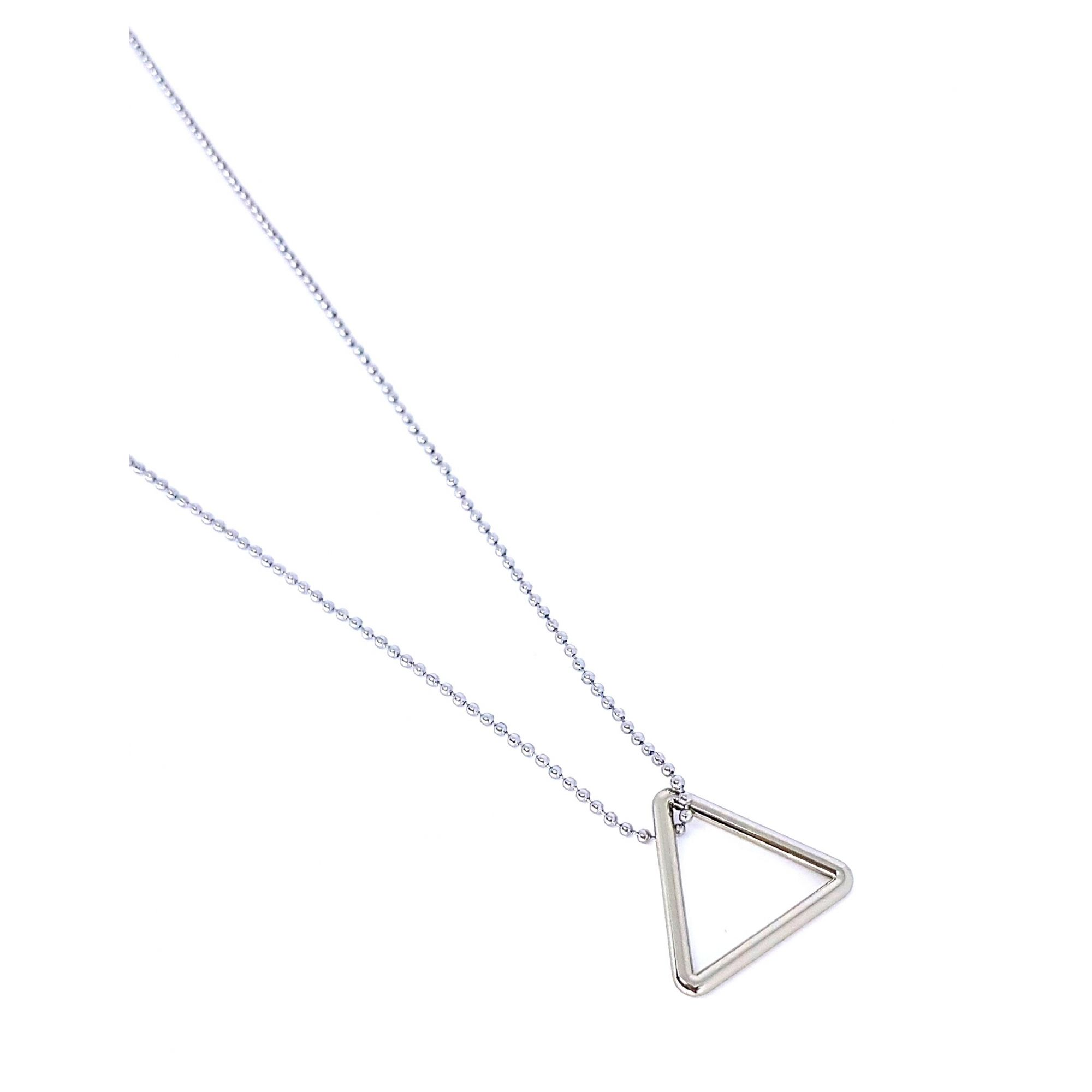 Corrente de Aço Inox Triângulo Prata 2