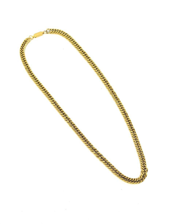 Corrente Empório Top Gold Aço Inox Curb