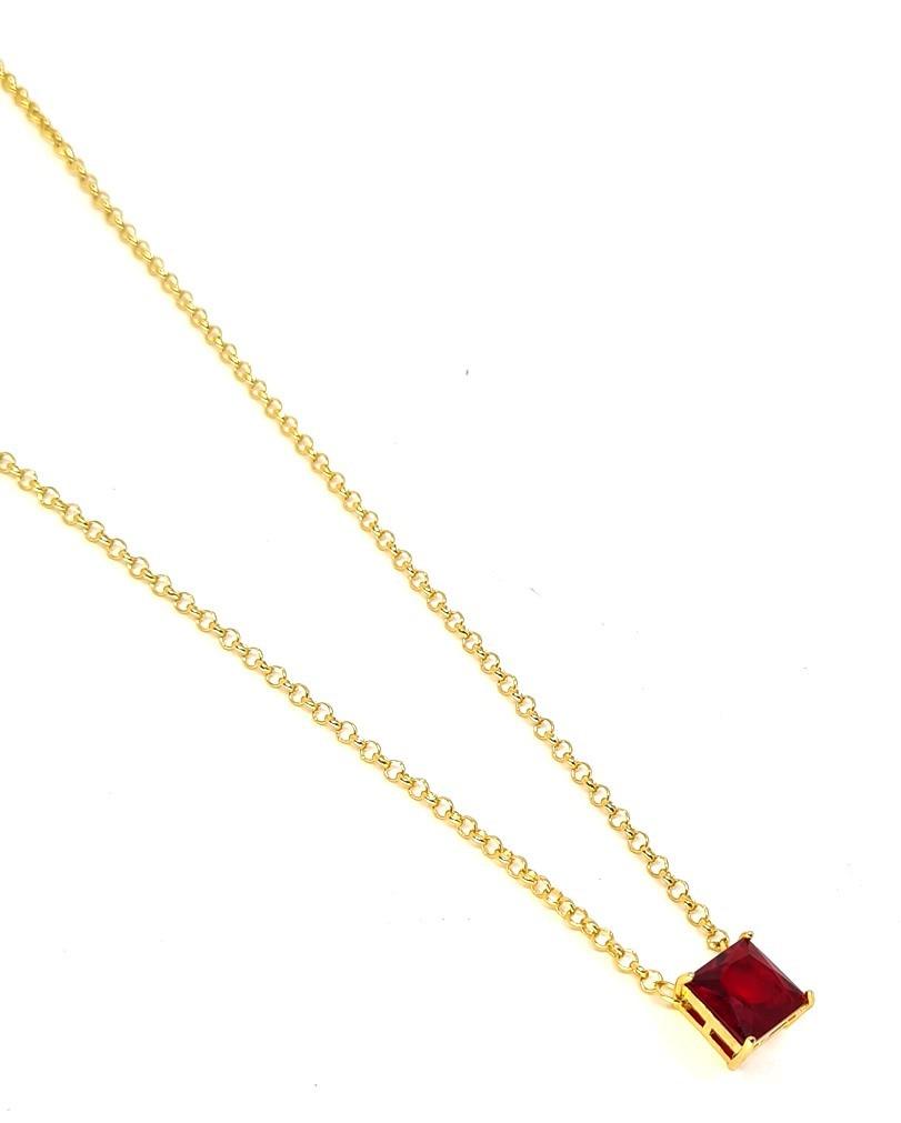 Corrente Empório Top Gold Precious Vermelho