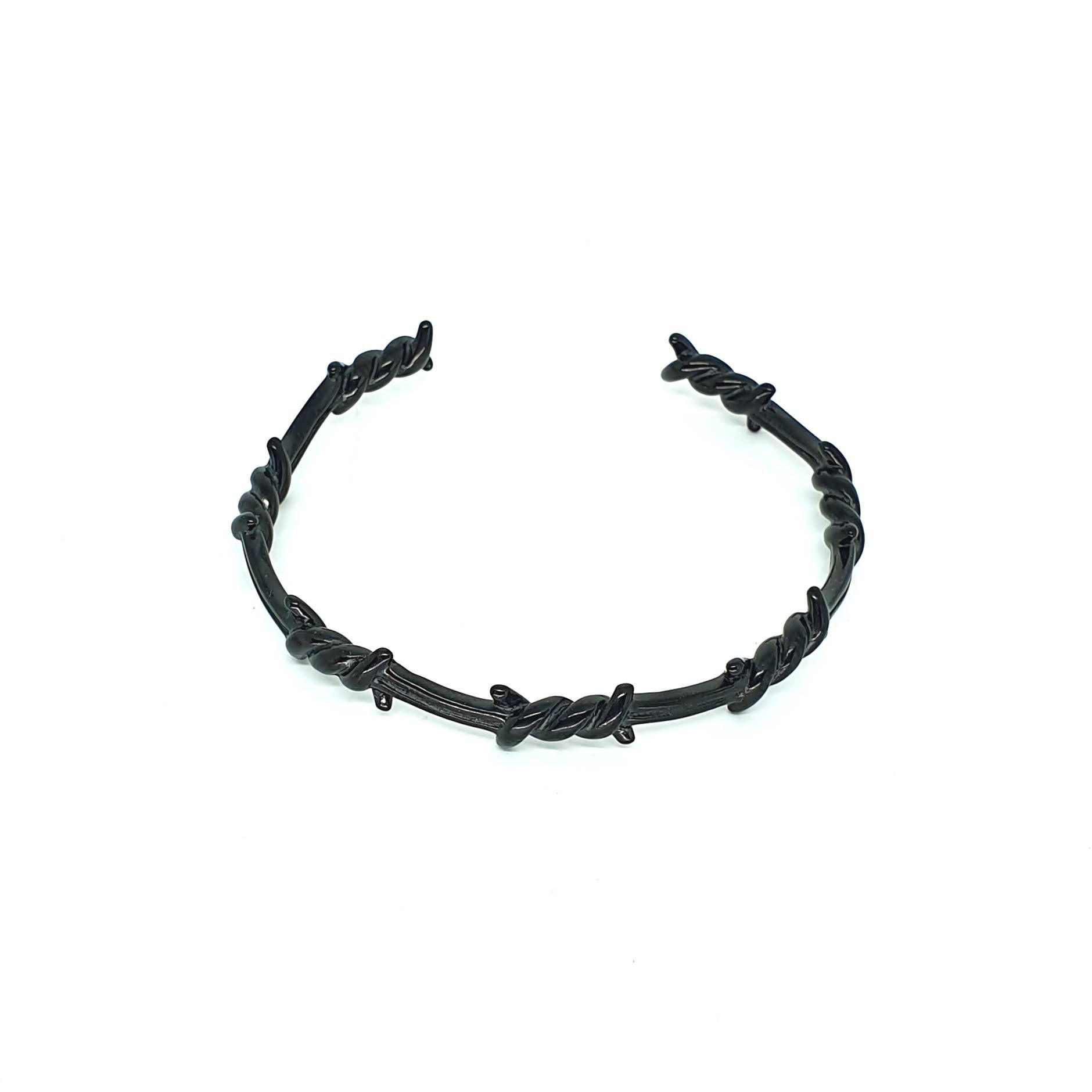 Pulseira Aço Inox Arame Farpado Black