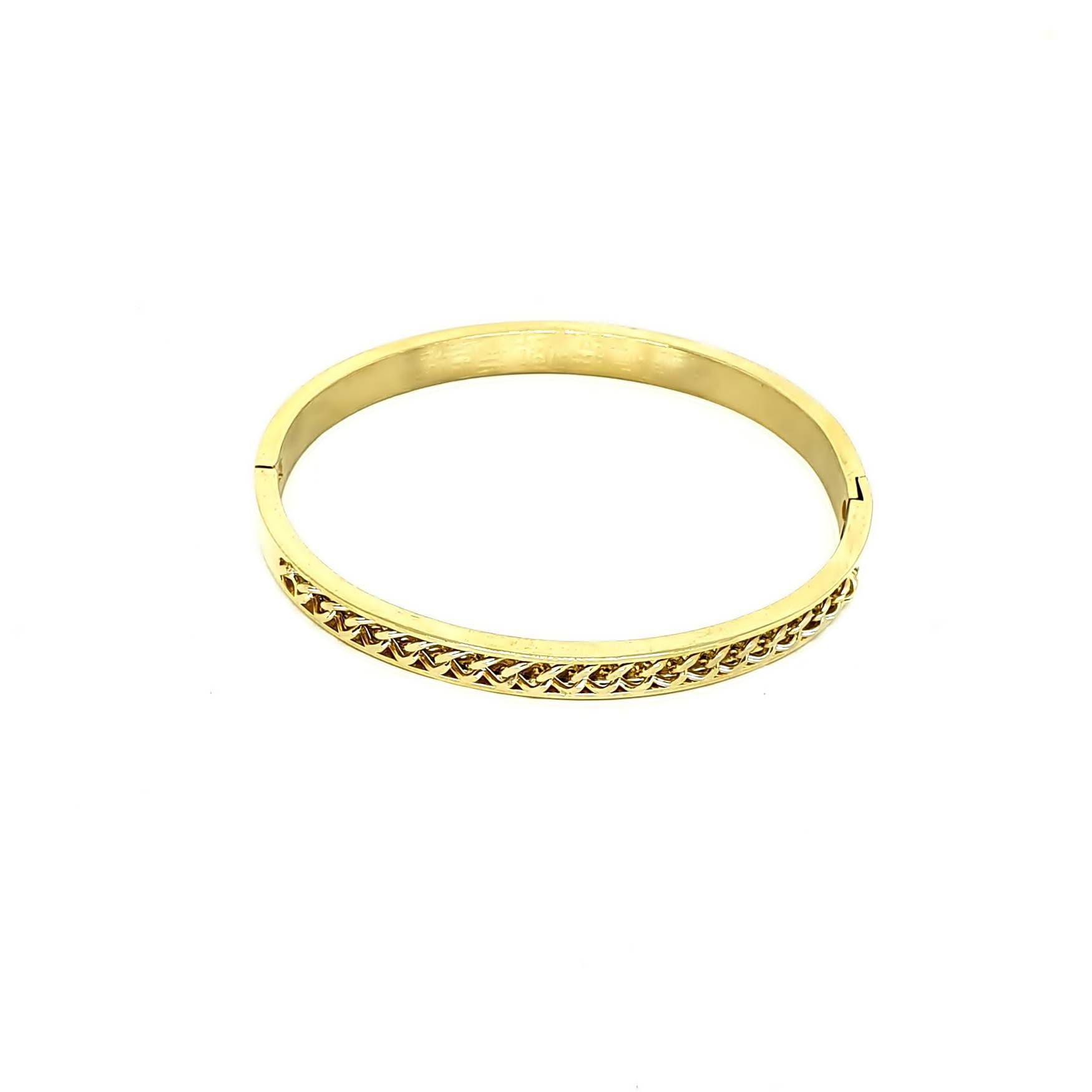 Pulseira Aço Inox Chain Gold