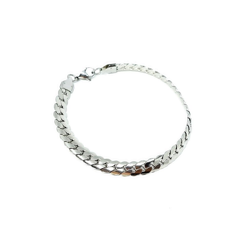 Pulseira Aço Inox Grumet Silver
