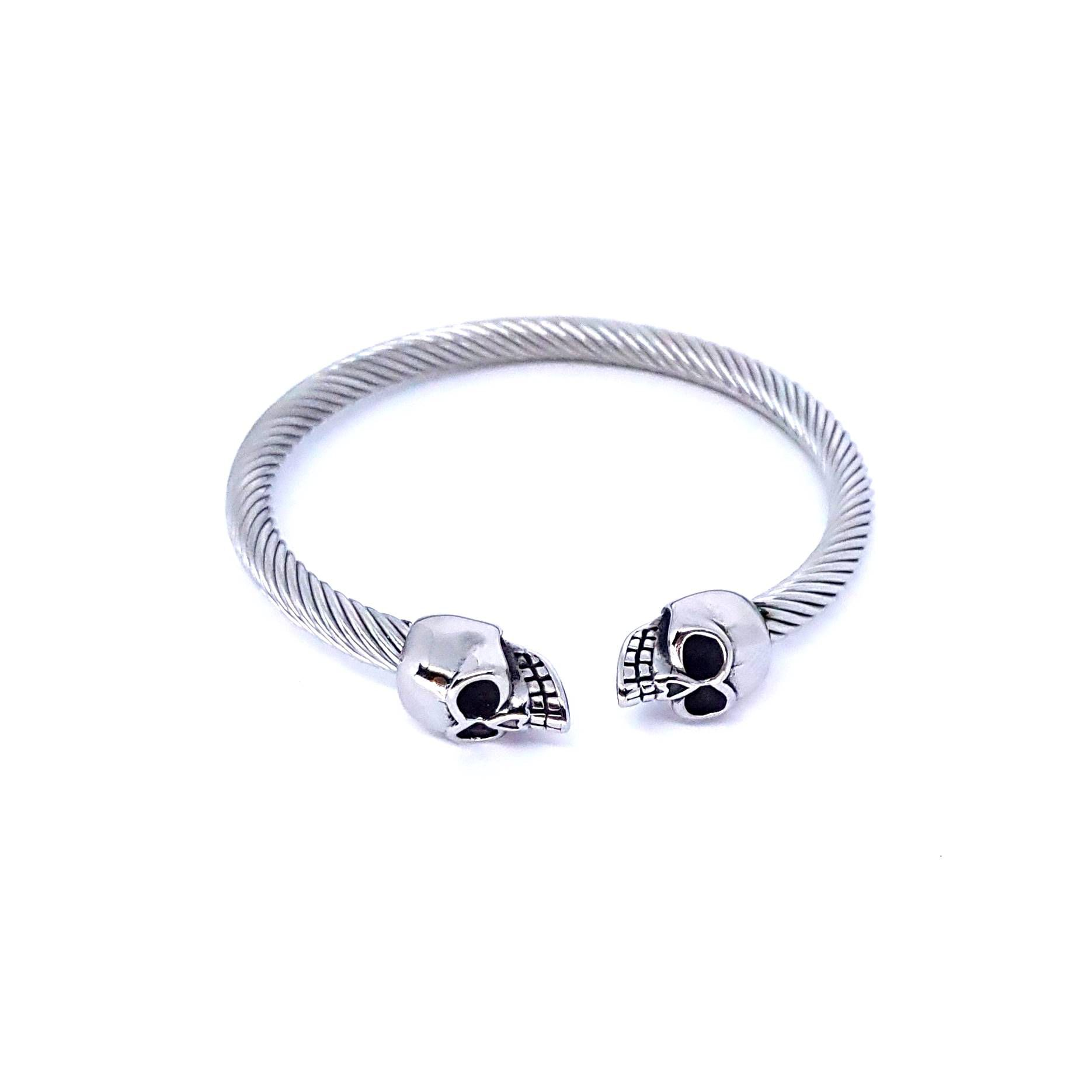 Pulseira Aço Inox Skull