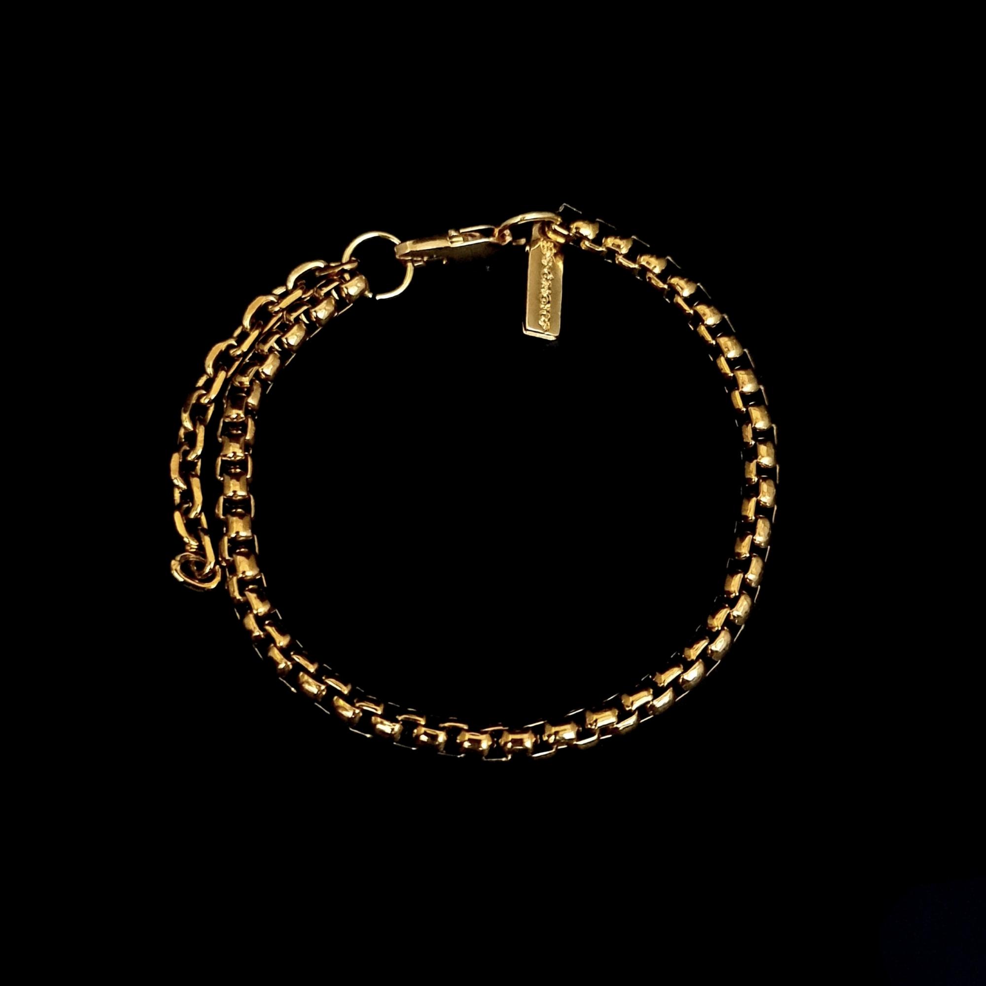 Pulseira Aço Inox Trava Gold
