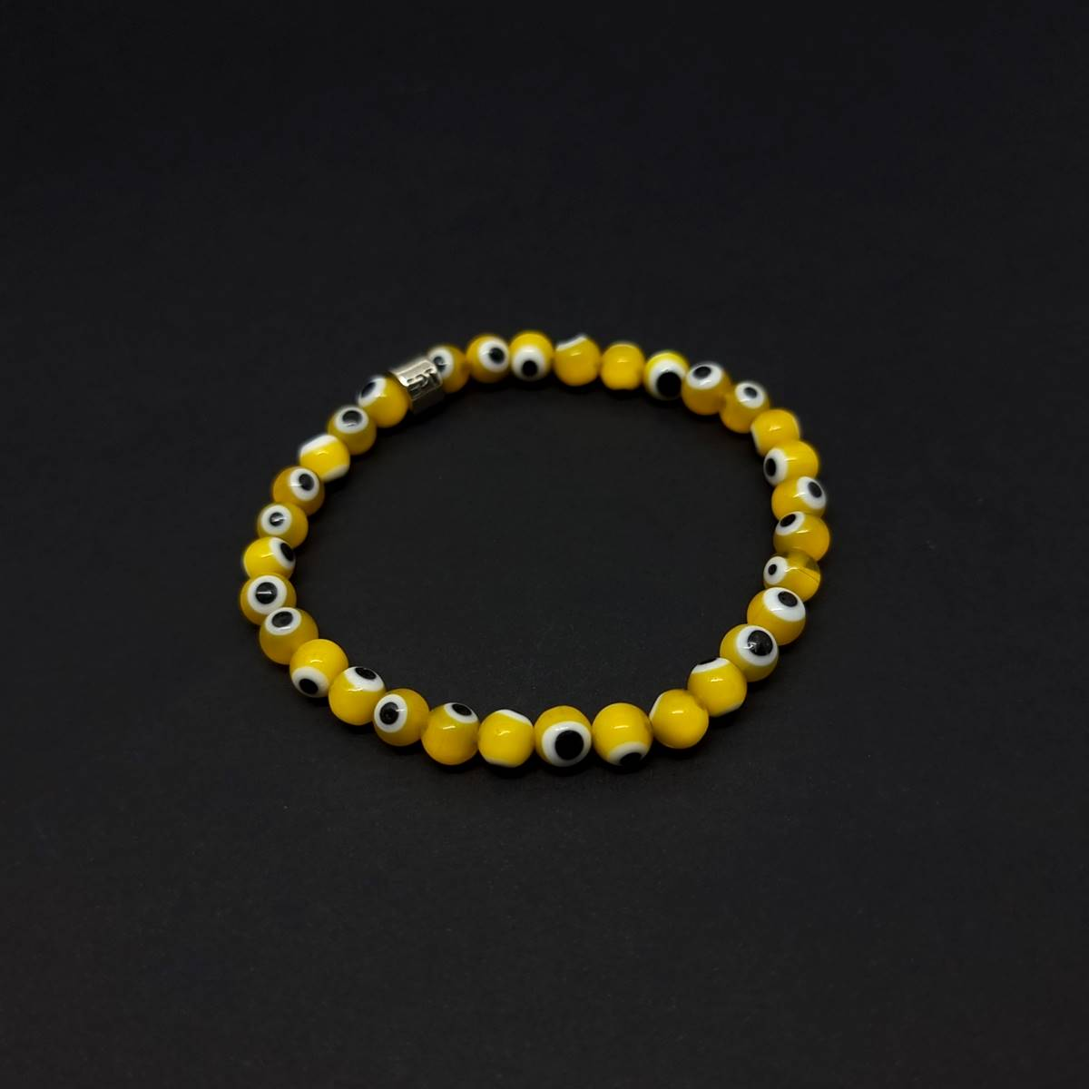 Pulseira Amuleto Olho Grego Amarelo