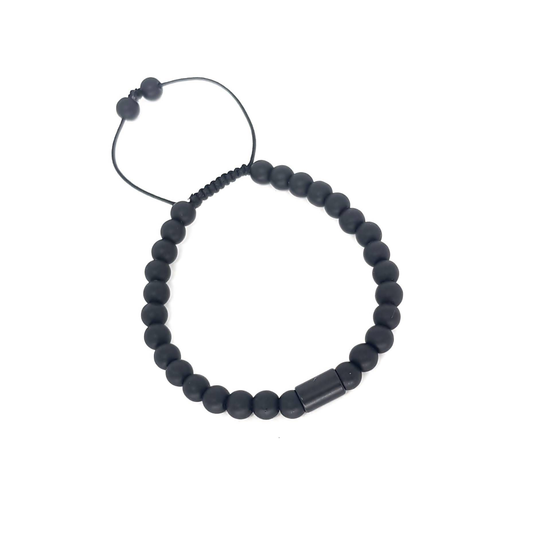 Pulseira de Pedra Ajustável Black Series Matte