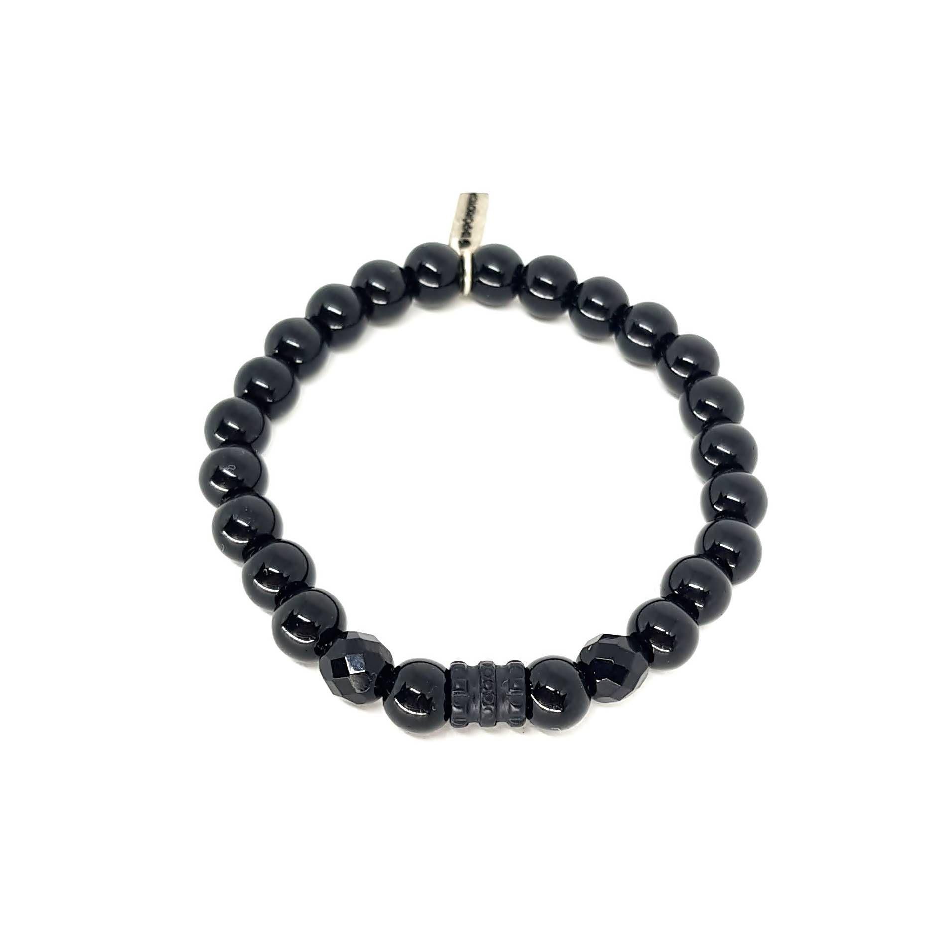 Pulseira de Pedras  Black Series Tube Onix