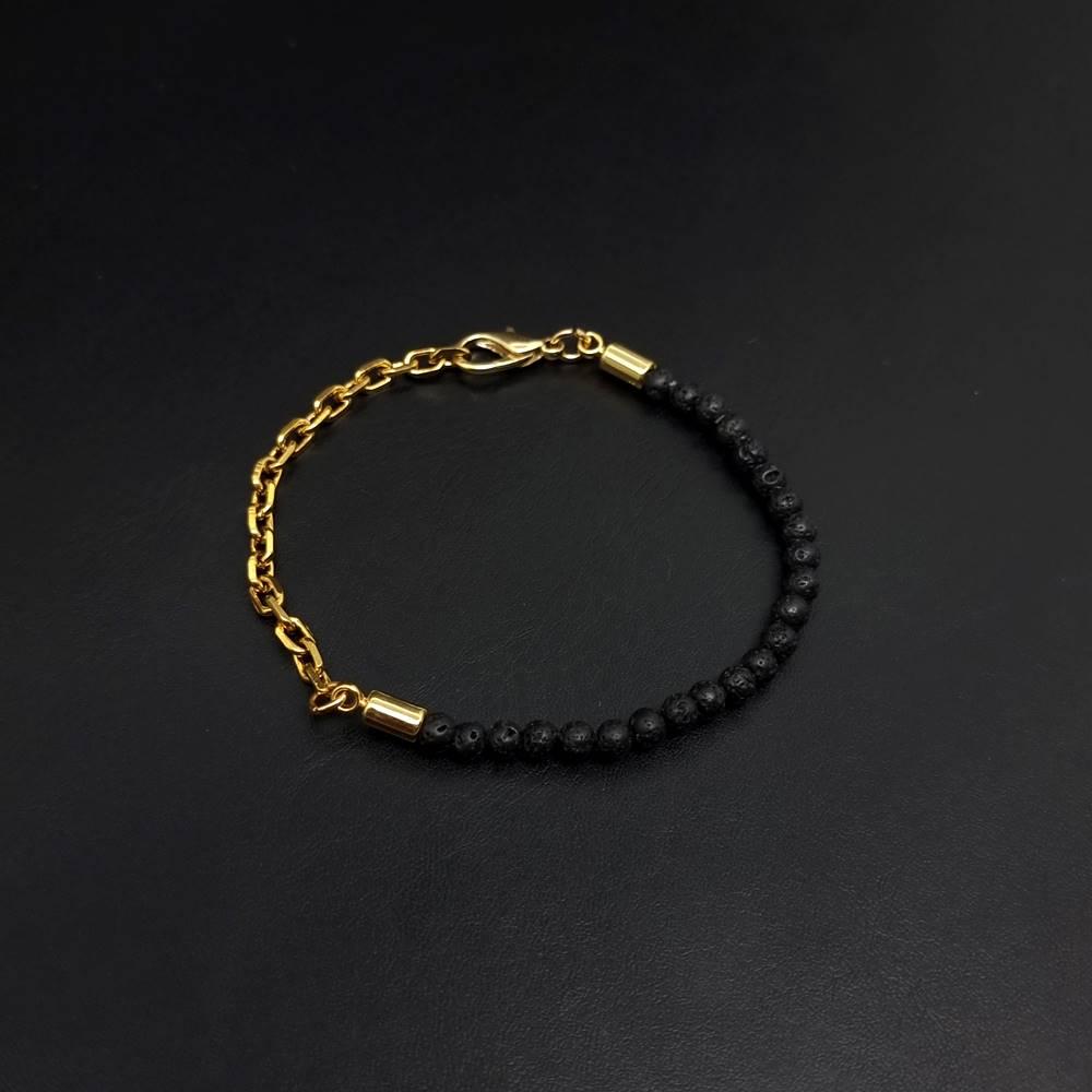 Pulseira de Pedras Lava Chain Gold
