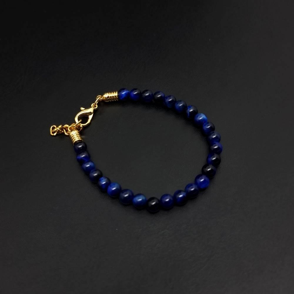 Pulseira de Pedras Naturais Azul Imperial Gold