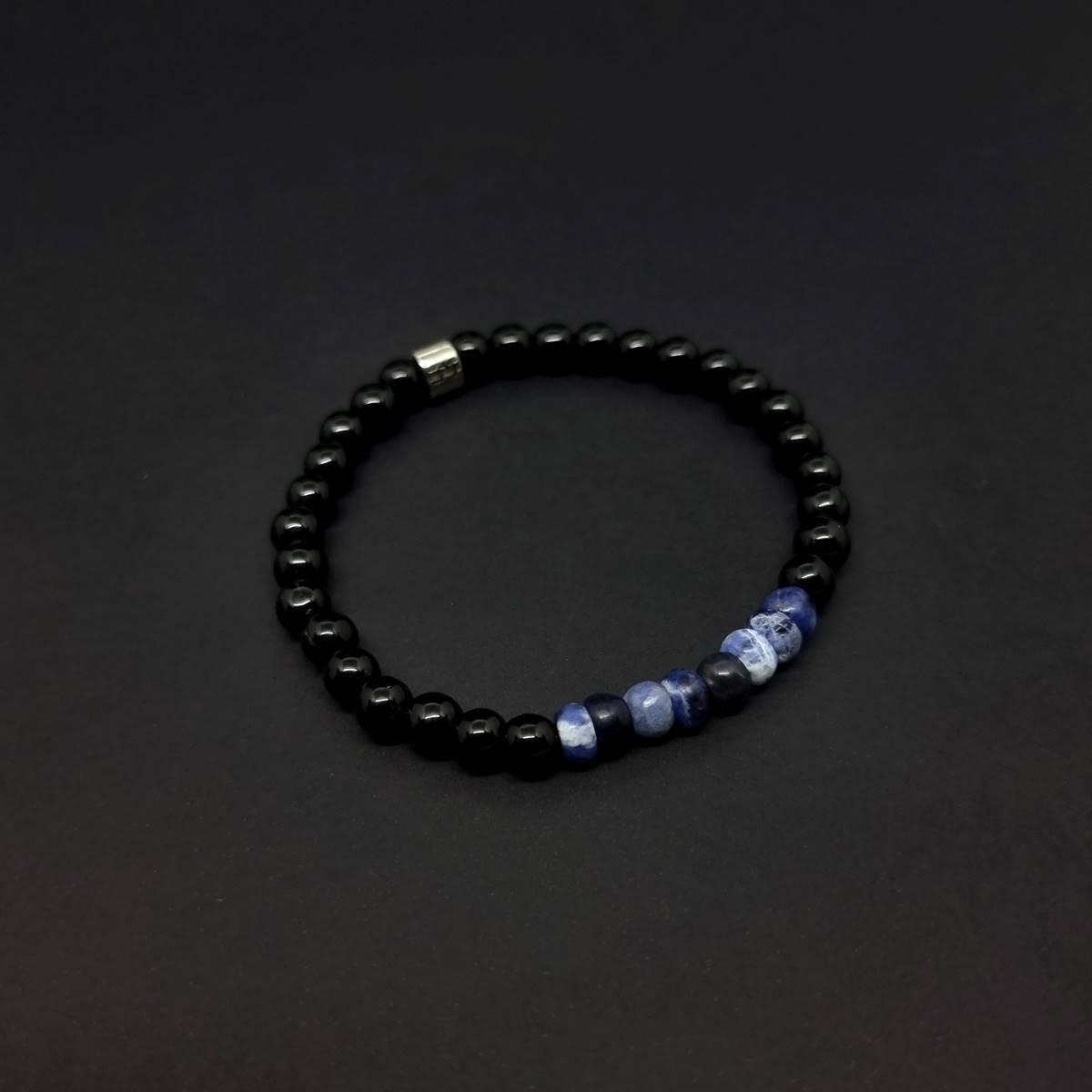 Pulseira de  Pedras Onix Feel Azul