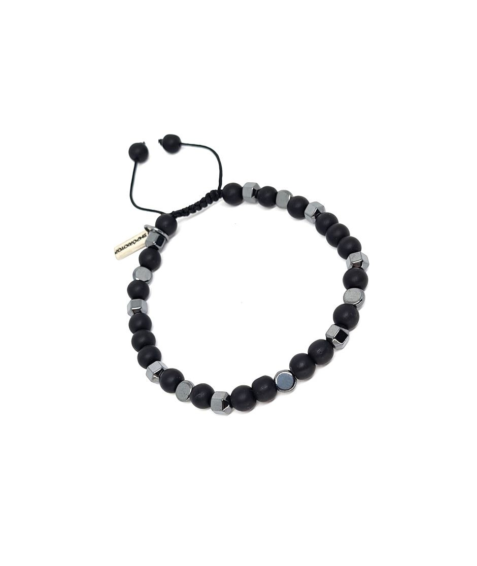 Pulseira Emporio Top de Pedras Circle Black And Grey