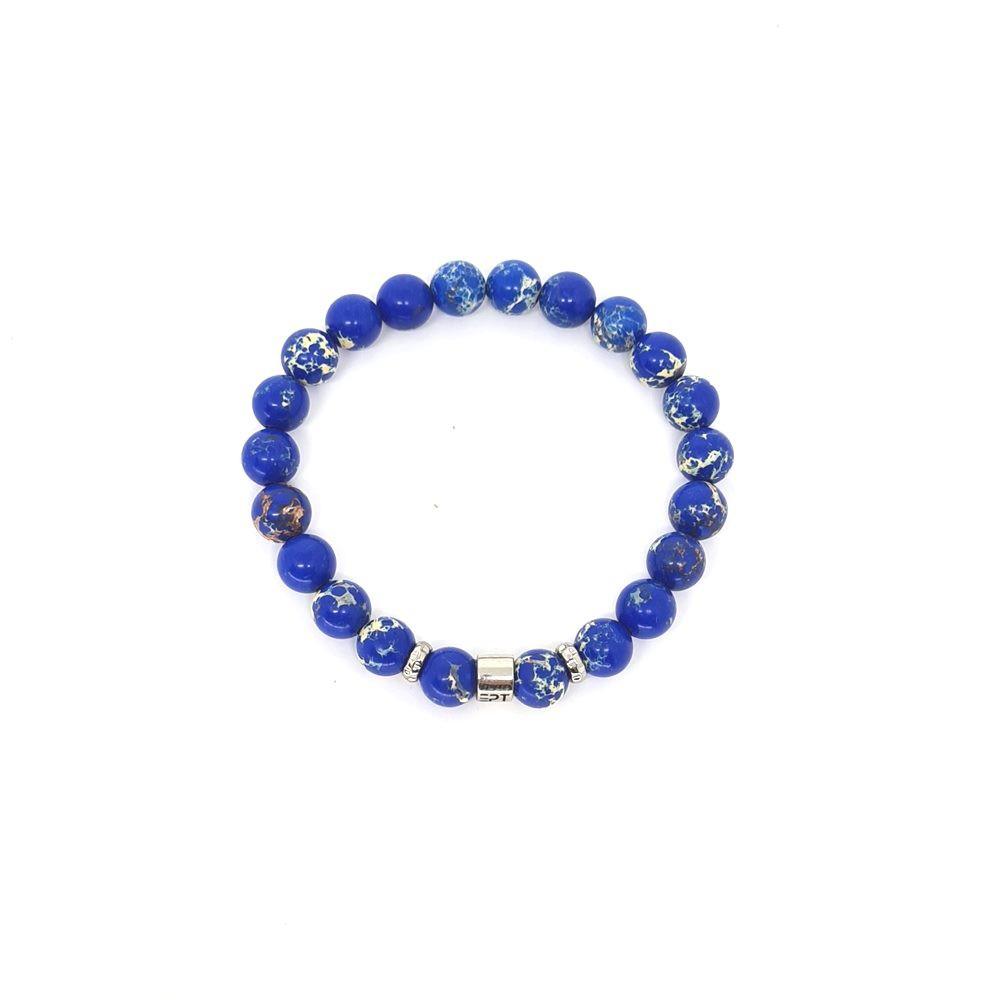 Pulseira Emporio Top de Pedras Ept Jasper Azul