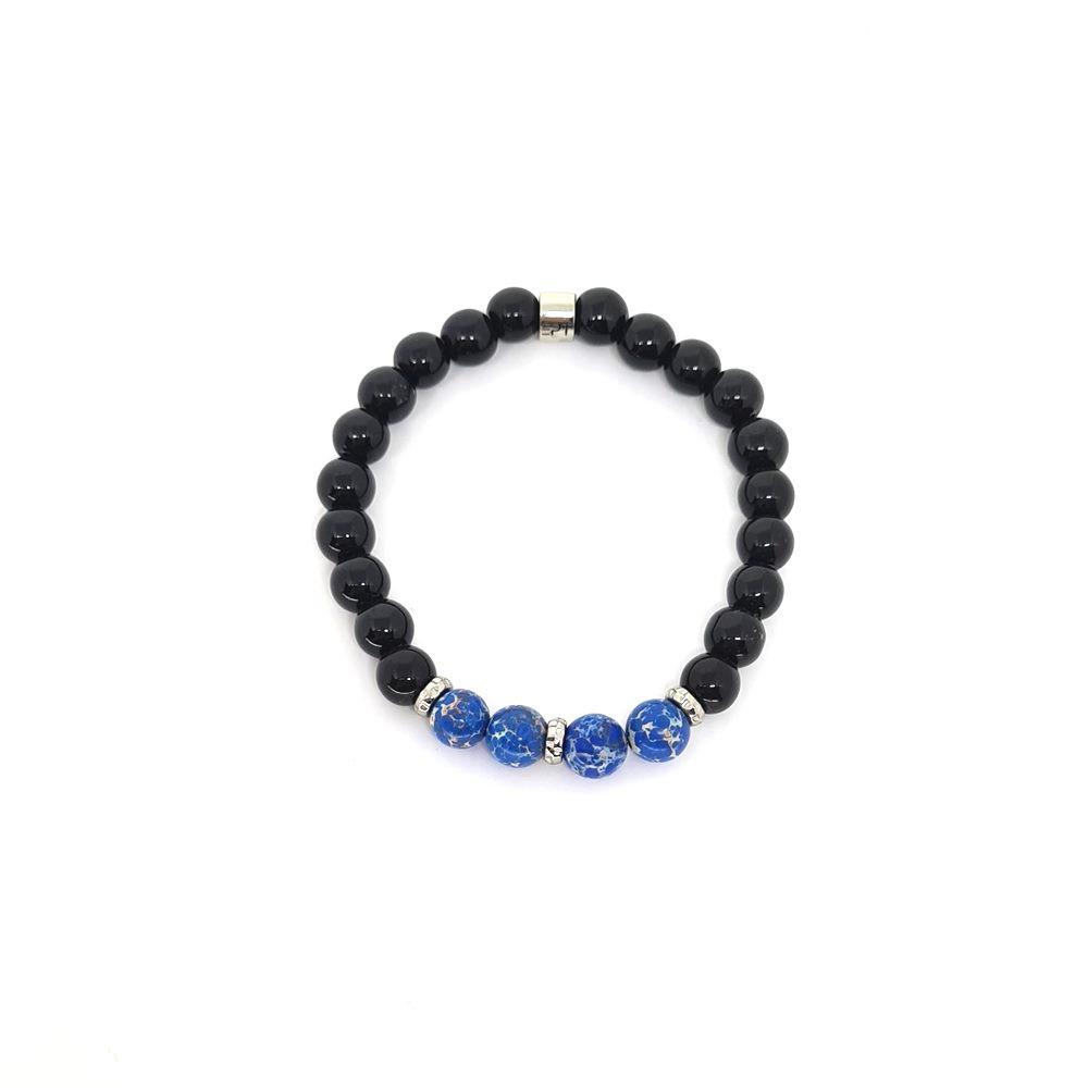 Pulseira Emporio Top de Pedras Precious Jasper Azul