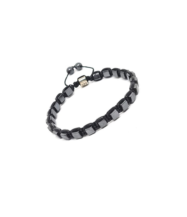 Pulseira Emporio Top Macramê Quadratic Black
