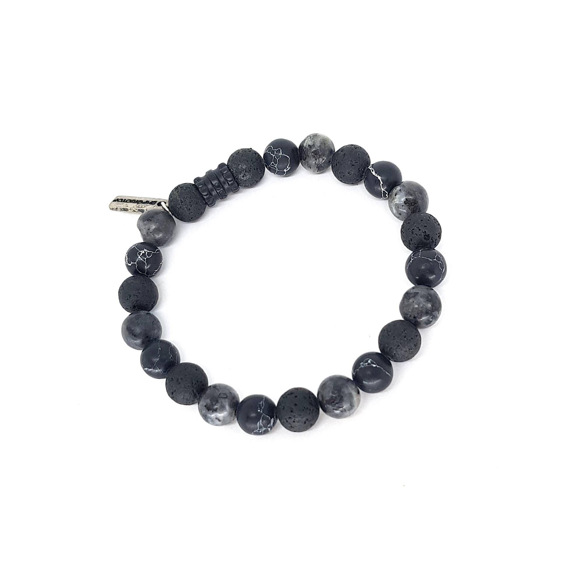 Pulseira Mix de Pedras Especiais Black Essencial Series