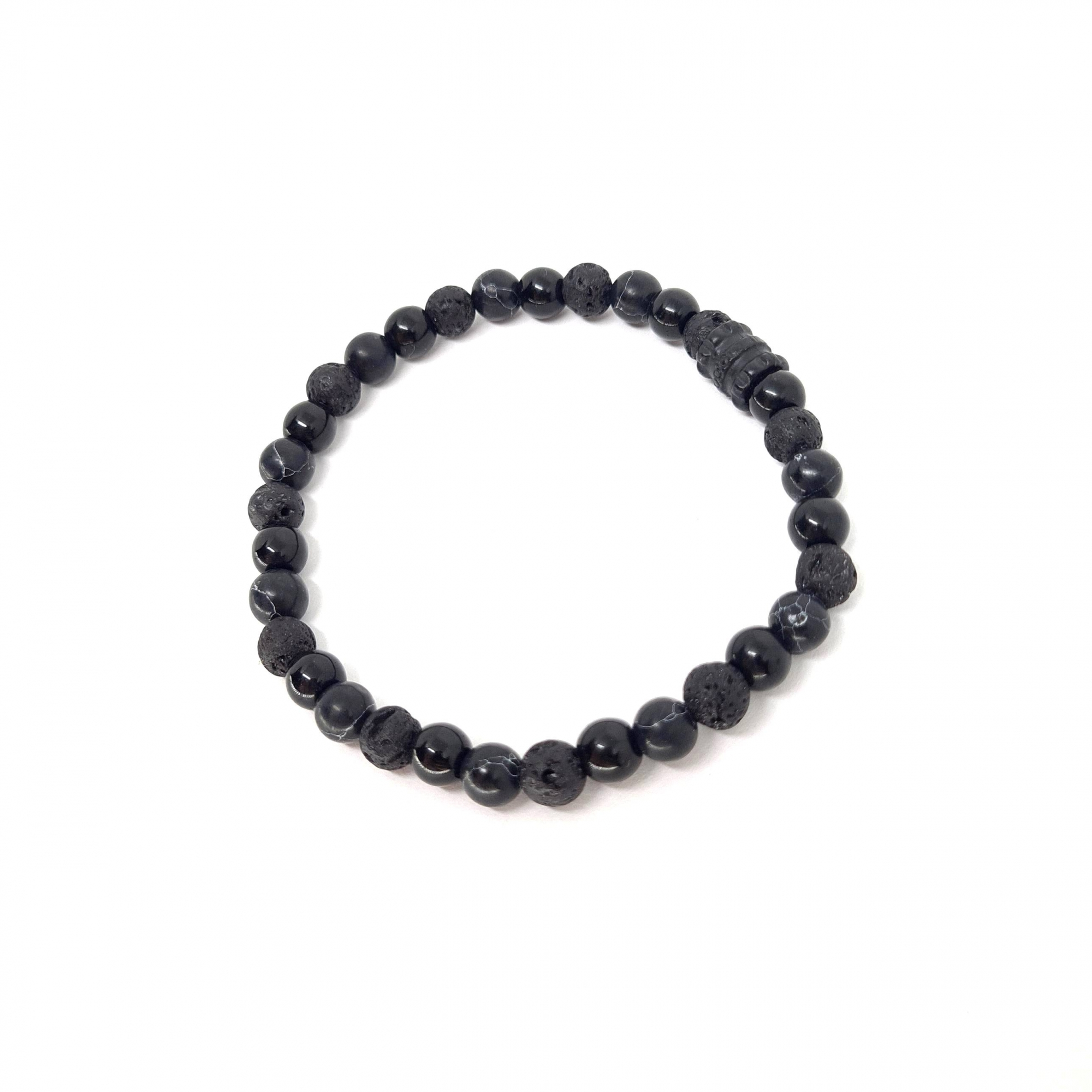 Pulseira Mix de Pedras Naturais Black Series