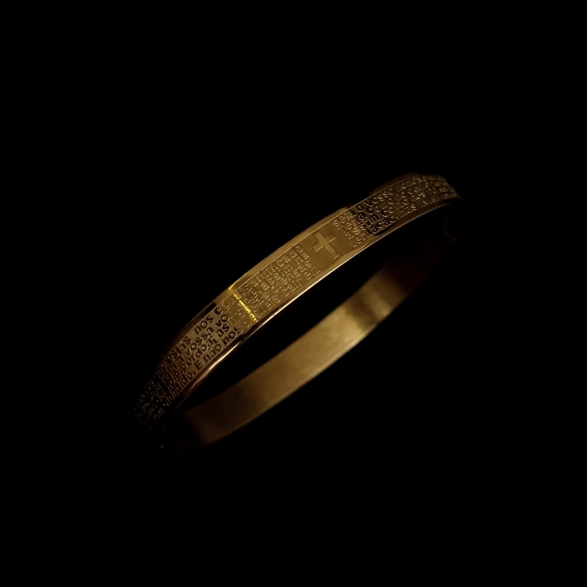 Pulseira Pai Nosso Gold