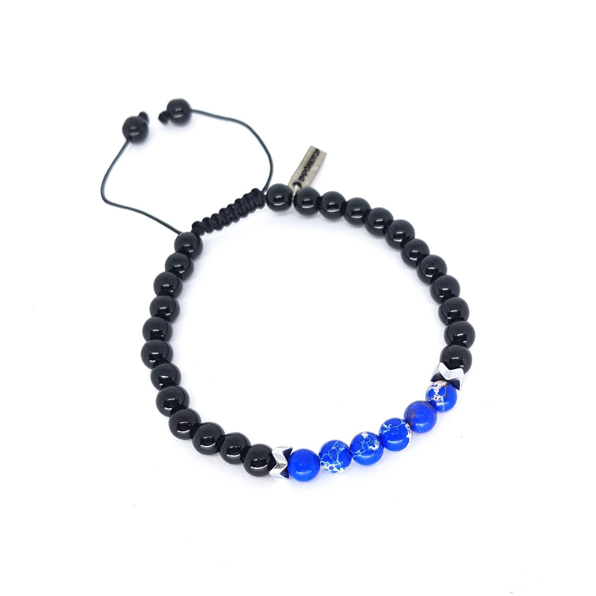 Pulseira Pedra Onix e Jasper Azul