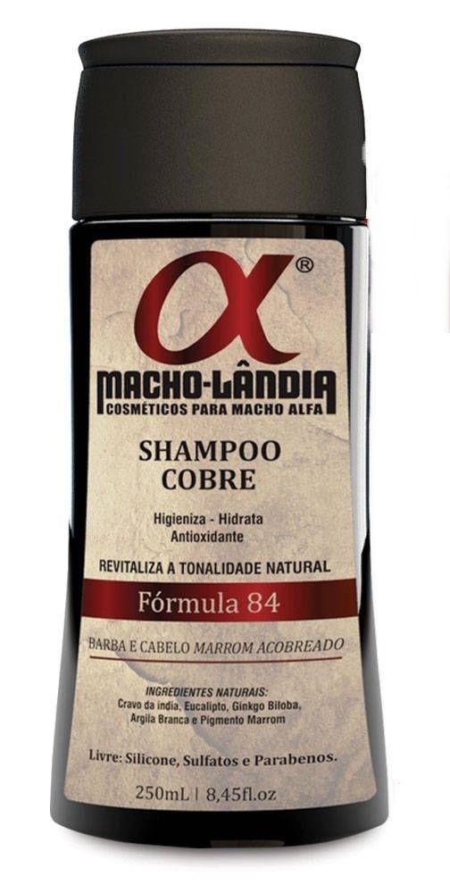 Shampoo Macho Lândia Formula 84 - Barba e Cabelos Ruivos ou Marrons