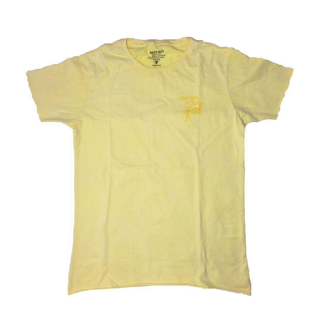T-shirt BioTwo Pines Palms - Amarela