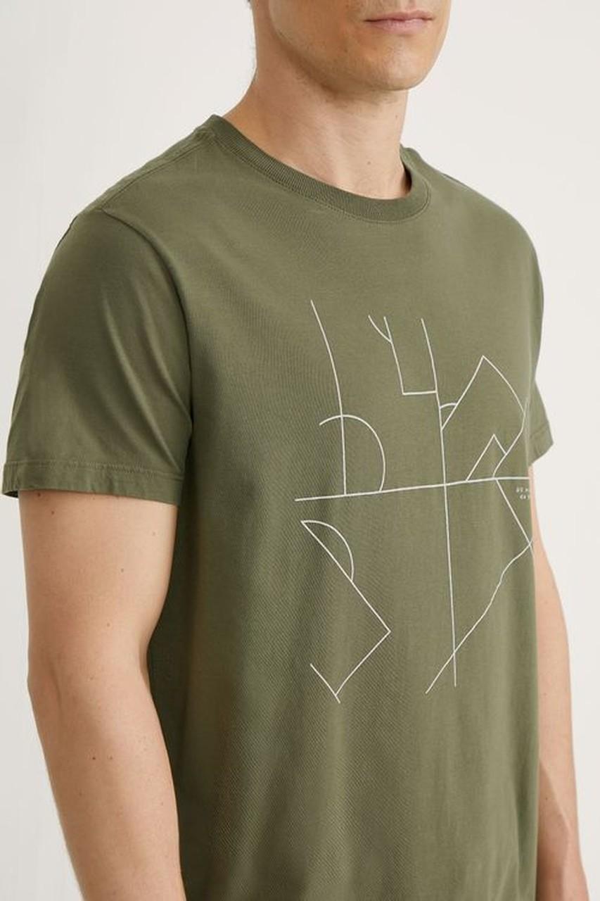 T-shirt Foxton 90 minutos - Verde Oliva