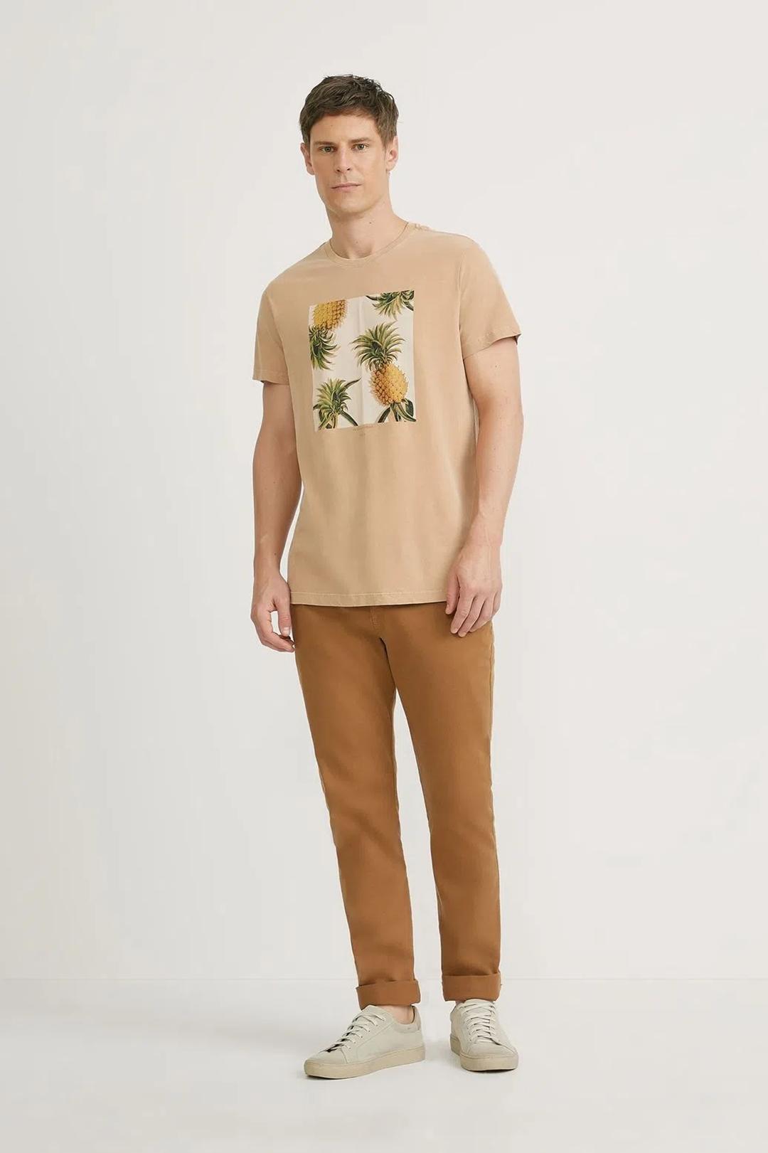 T-shirt Foxton Abacaxi - Caqui