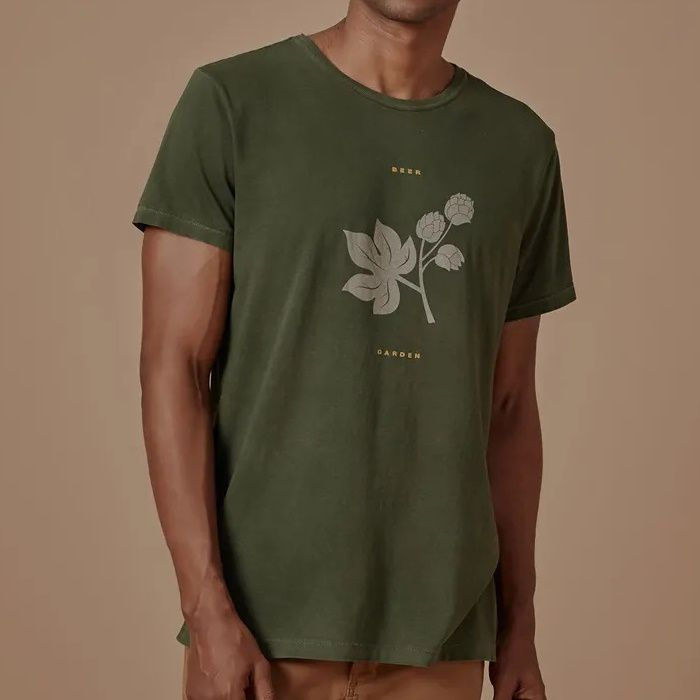 T-shirt Foxton Beer Garden - Verde