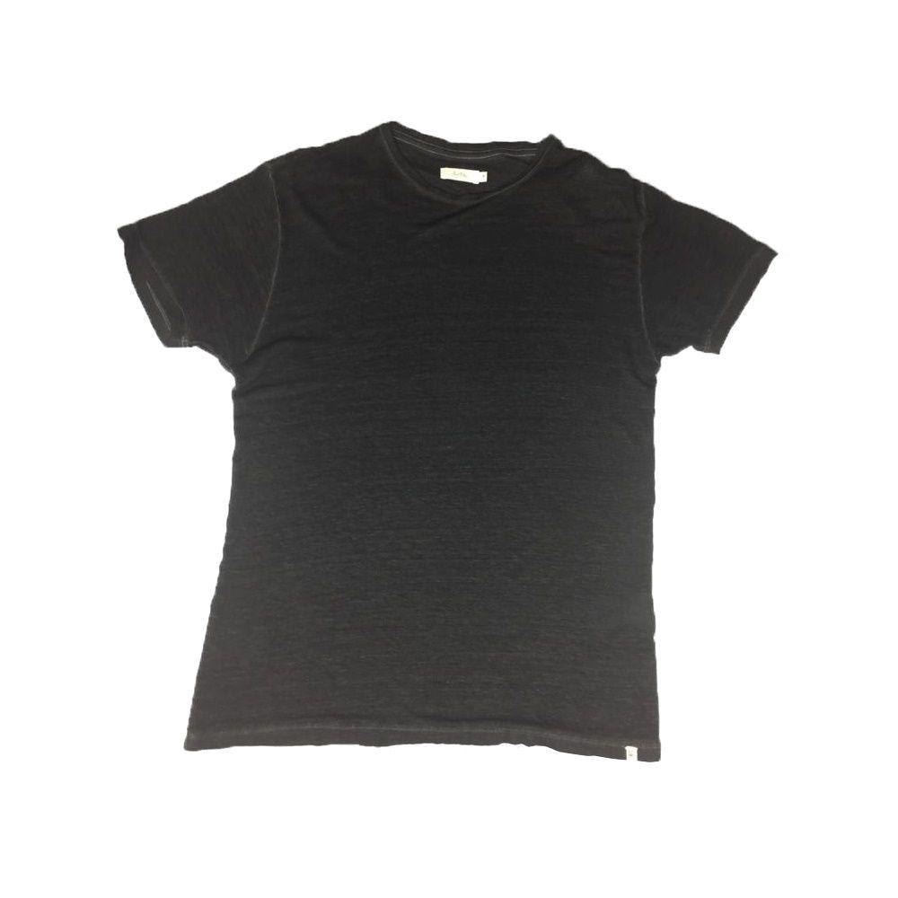 T-shirt Foxton de Linho Spray - Preta