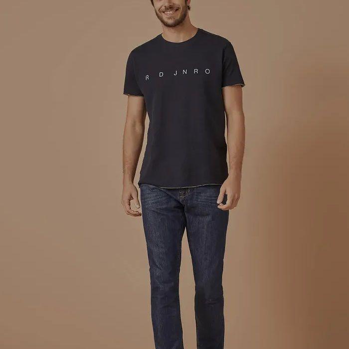 T-shirt Foxton Dupla Face Rj - Preta/Cinza