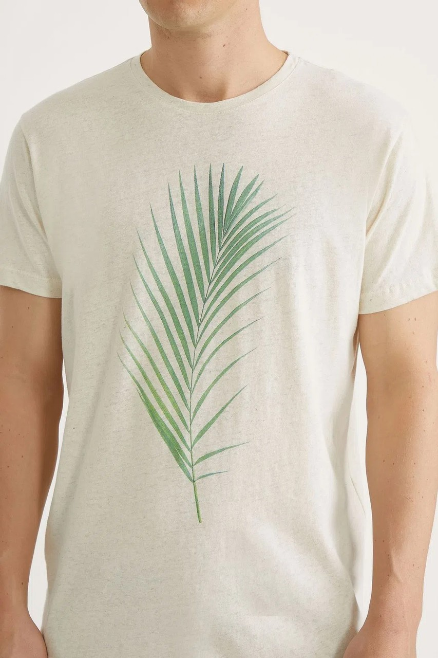 T-shirt Foxton Folhagem - Natural