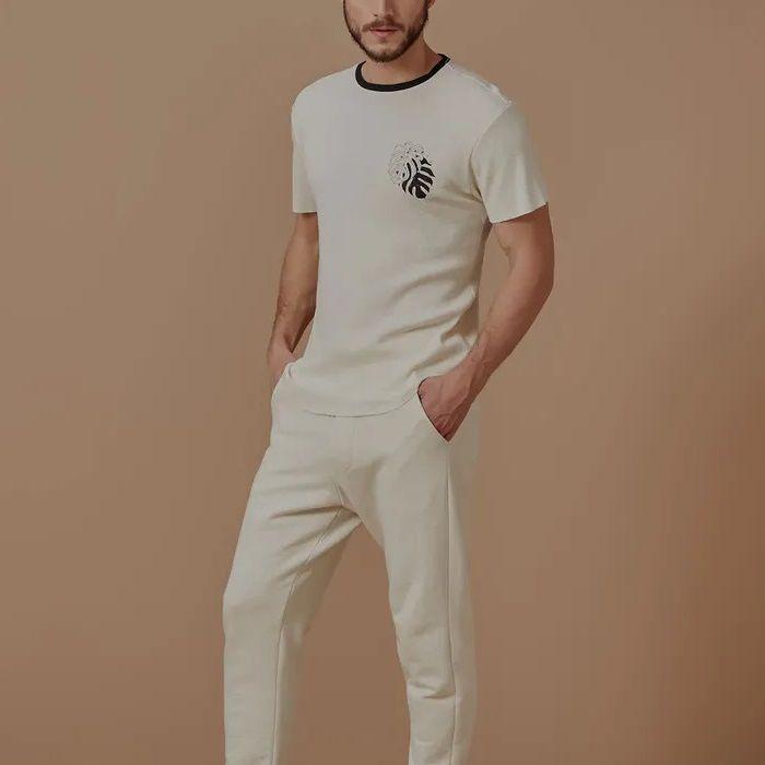 T-shirt Foxton Naturalize - Branca