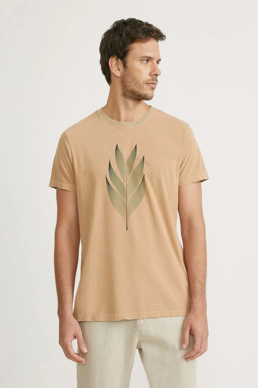 T-shirt Foxton Nature Lines - Caqui